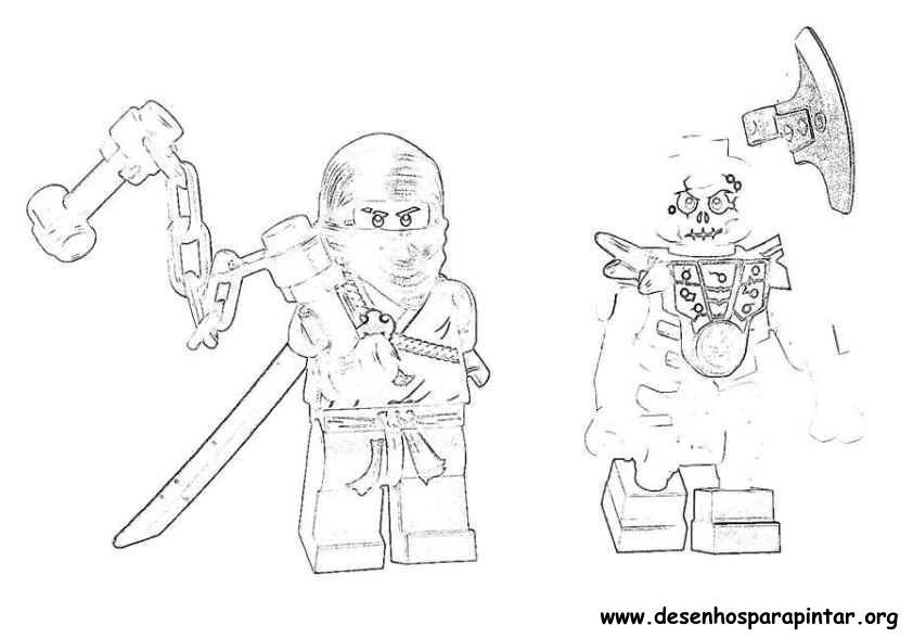 Lego NinjaGo – Desenhos para imprimir pintar e colorir – Herois da TV
