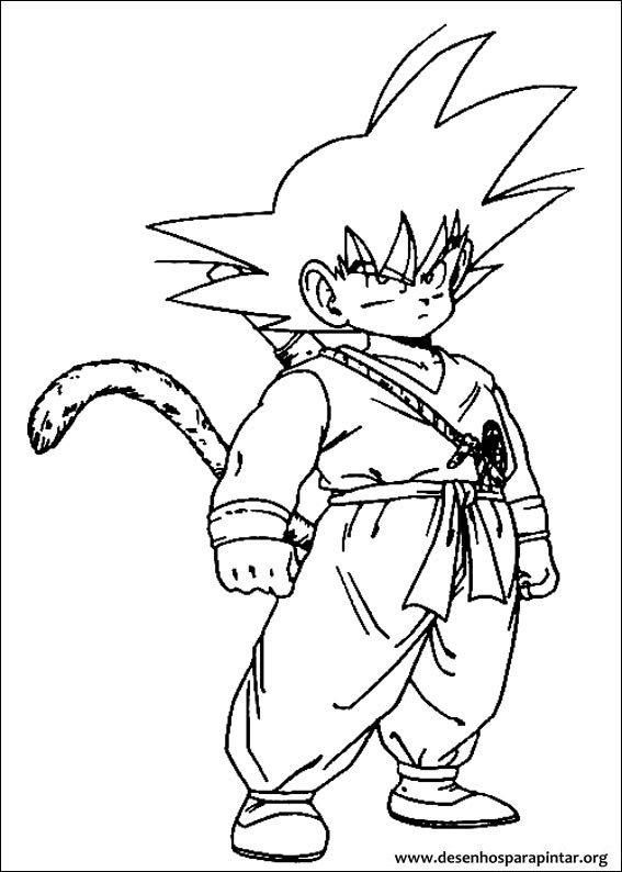 Dragon Ball Z desenhos para imprimir