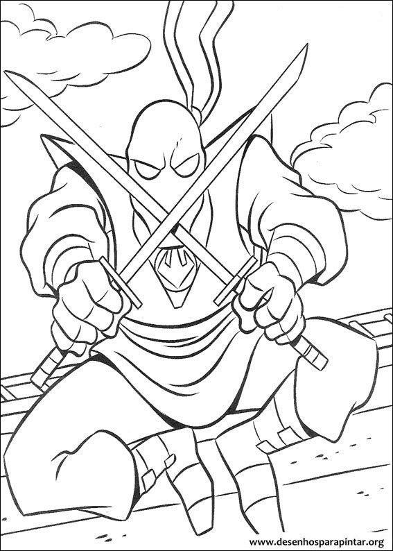 tartarugas ninja desenhos colorir pintar imprimir21