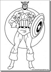capitão américa desenhos para imprimir colorir e pintar herois da tv