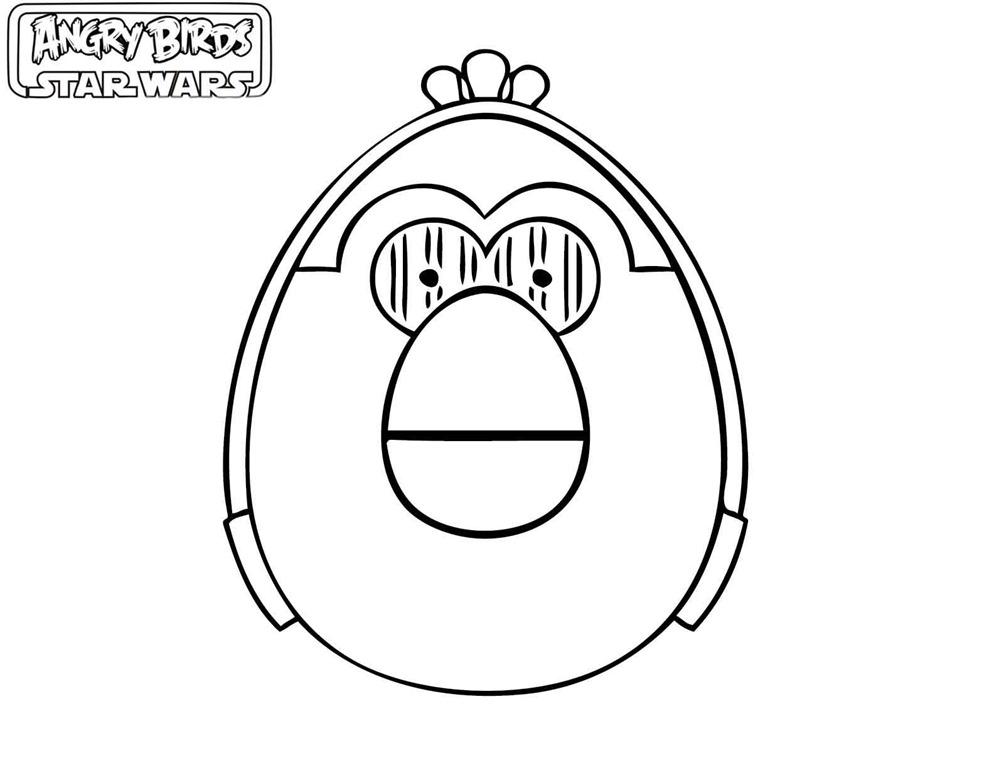 Angry Birds Star Wars Desenhos Para Imprimir Colorir E